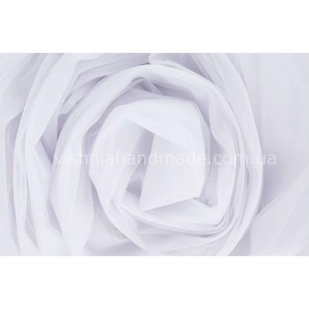 Отрез белого мягкого еврофатина для кукольной одежды, 0.5*3 м