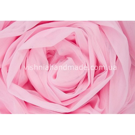 Отрез нежно розового мягкого еврофатина для кукольной одежды, 0.5*3 м