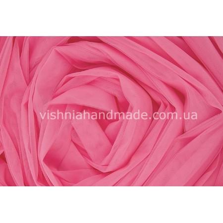 Отрез ярко розовогомягкого еврофатина для кукольной одежды, 0.5*3 м