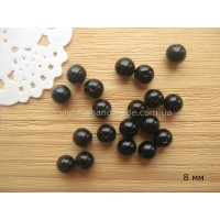 8 мм круглые черные акриловые бусины для глазок, 30 шт