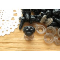 9*12 мм черные безопасные носики винтики для игрушек с заглушками, 1 шт