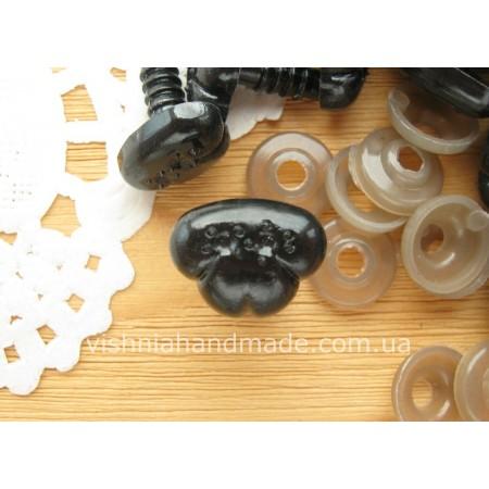 12*15 мм черные безопасные носики винтики для игрушек с заглушками, 1 шт
