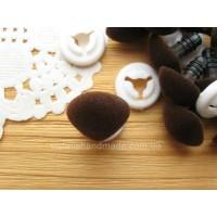 13*17 мм коричневые бархатные безопасные носики винтики для игрушек с заглушками, 1 шт