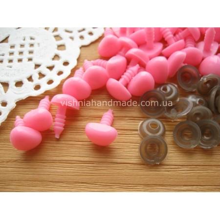 10*11 мм розовые безопасные носики винтики для игрушек с заглушками, 1 шт