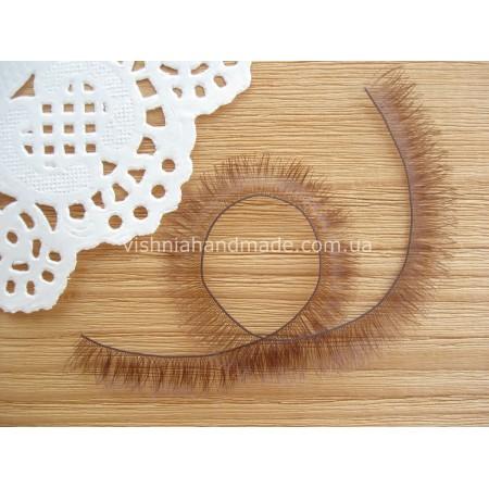 Ресницы коричневые для кукол и игрушек 10 мм, 20 см