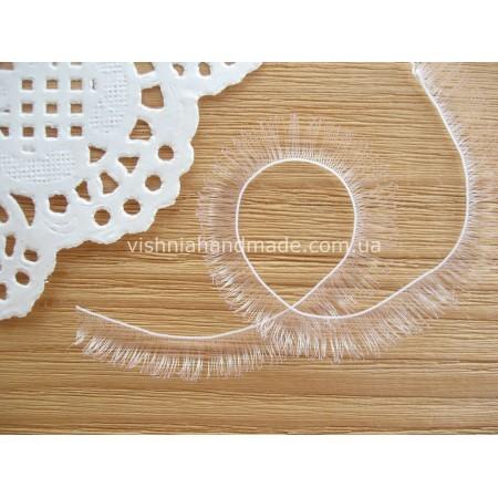 Ресницы белые для кукол и игрушек 10 мм, 20 см