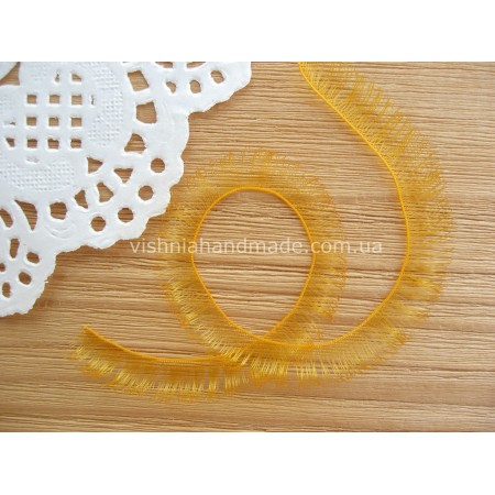Ресницы оранжевые для кукол и игрушек 10 мм, 20 см