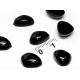10*14 мм черные плоские носики для игрушек, 10 шт