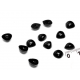 6*8 мм черные плоские носики для игрушек, 10 шт