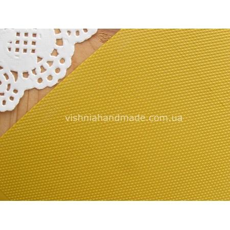 Желтый кант (рант) для кукольной обуви, 5*18 см