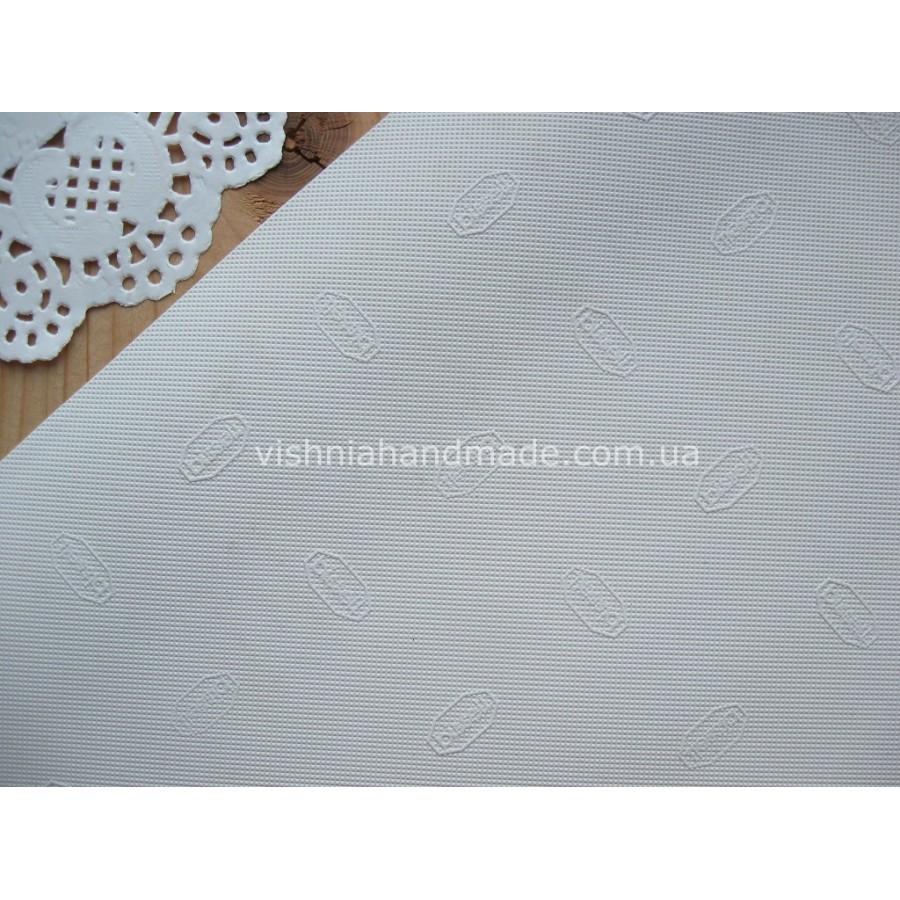 Белая резина c надписью BISSELL для подошвы кукольной обуви 1 мм, 9.5*19 см