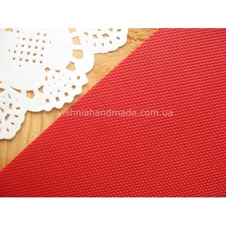 Красный  кант (рант) для кукольной обуви, 5*18 см