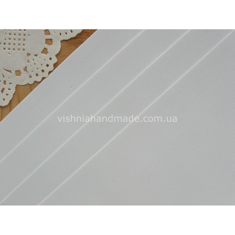 Белый фоамиран (1 мм) для кукольной обуви, 30*20 см