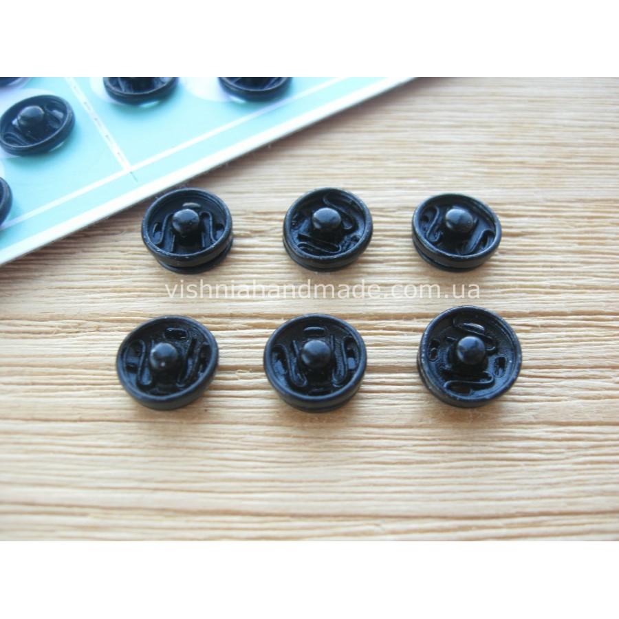 Мини кнопки для кукол 8 мм, черные