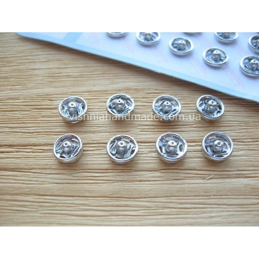Мини кнопки для кукол 6 мм, серебро