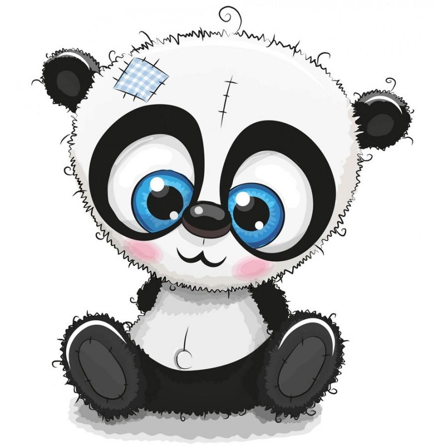 "Термонаклейка для кукол ""Панда"", 3 см"