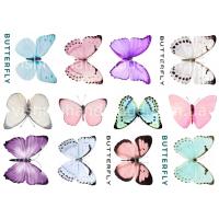 """Термотрансферные наклейки """"Нежные бабочки"""", для белый тканей"""