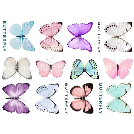"""Термотрансферные наклейки """"Нежные бабочки"""", для белый тканей Ар. 480067"""
