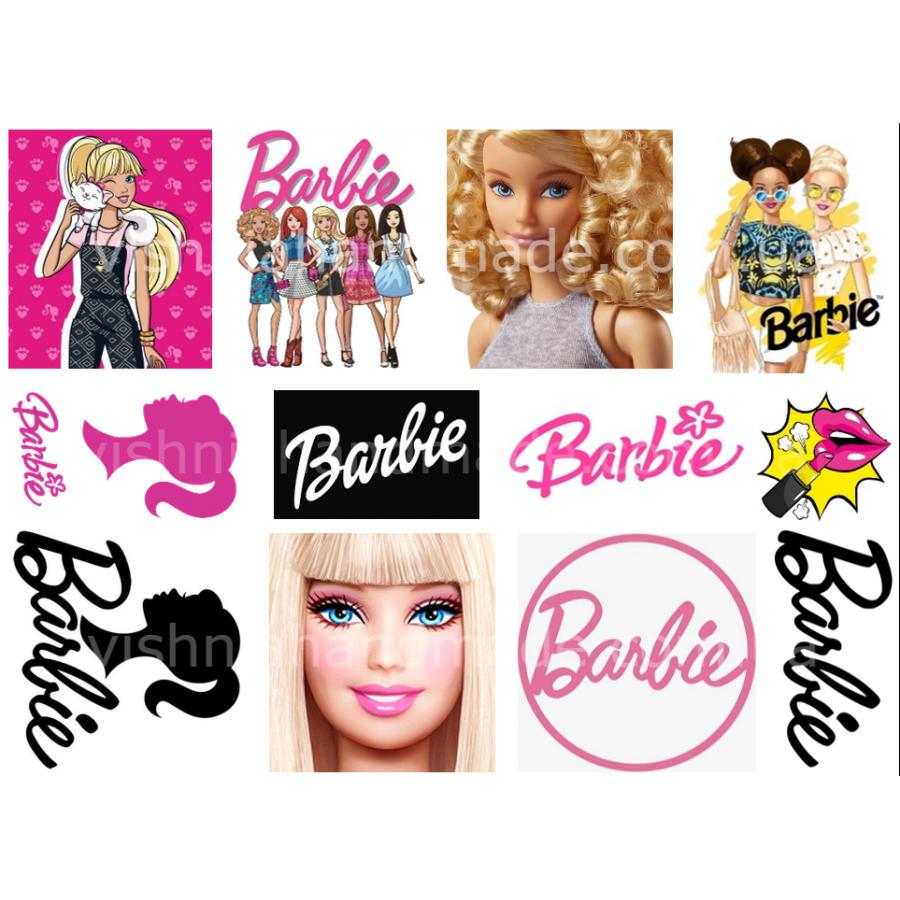 Термонаклейки для кукол «Барби», для белых тканей