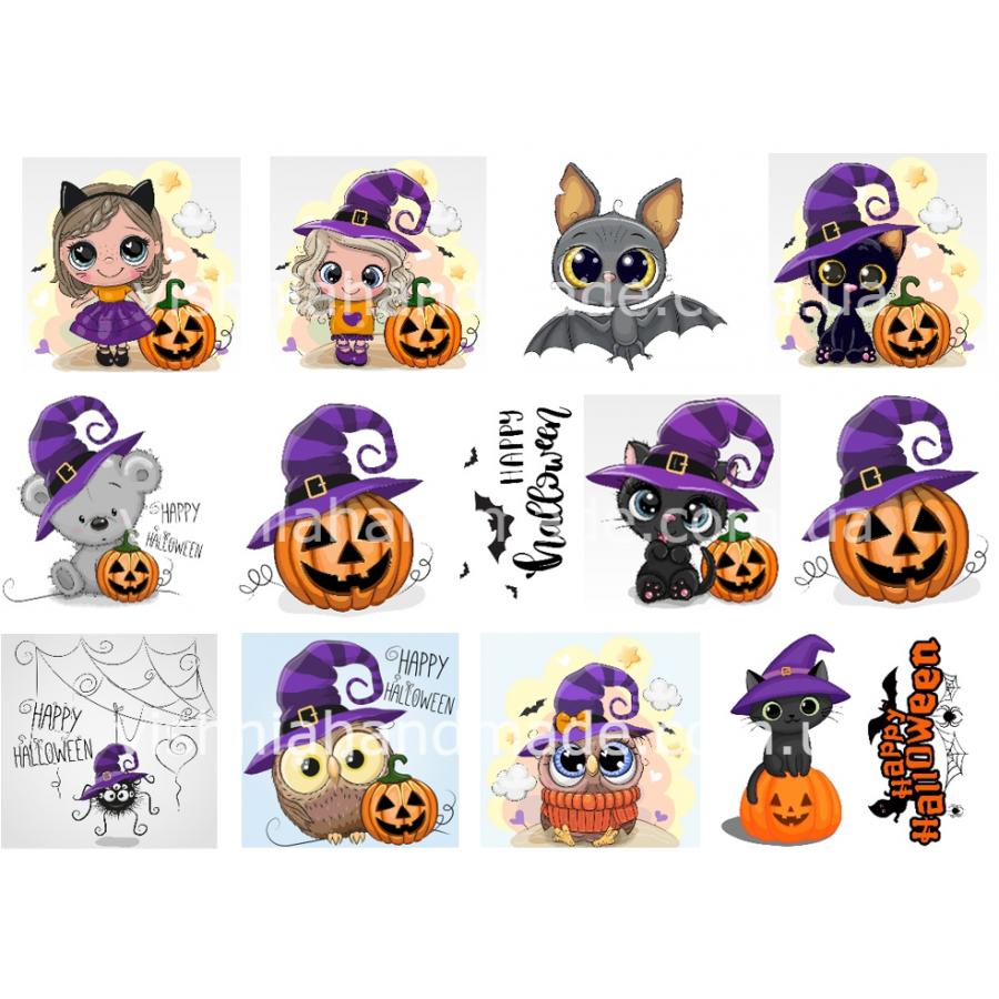 Термонаклейки для кукол «Хеллоуин», для белых тканей