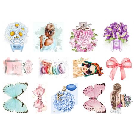 Термонаклейки для кукол «Цветочки, бабочки», для белых тканей Ар. 480053