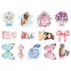 Термонаклейки для кукол «Цветочки, бабочки», для белых тканей