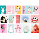 Термонаклейки для кукол «Ламы и панды», для черных/цветных тканей