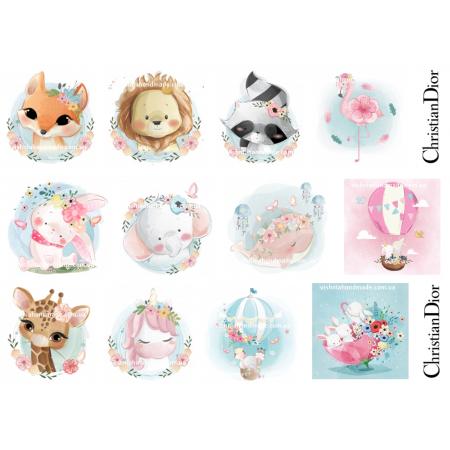 Термонаклейки для кукол «Милые животные», для белых тканей Ар. 480017