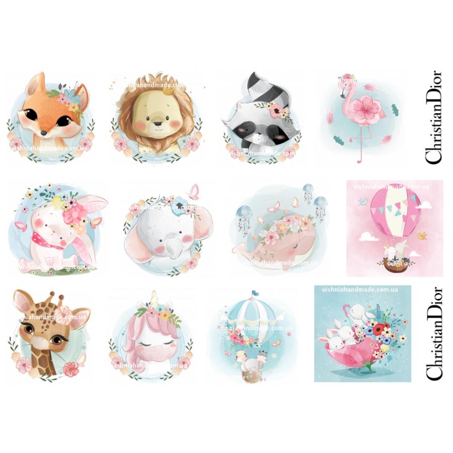 Термонаклейки для кукол «Милые животные», для белых тканей