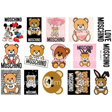 Термонаклейки для кукол «Москино», для черных/цветных тканей