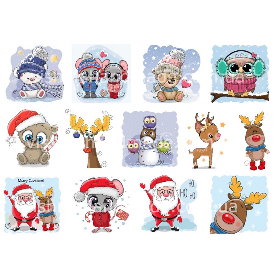 Термонаклейки для кукол «Новый год», для белых тканей