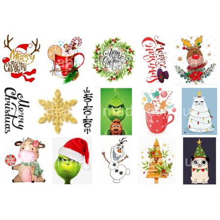 Термонаклейки для кукол «Новый год», для белых тканей Ар. 480049