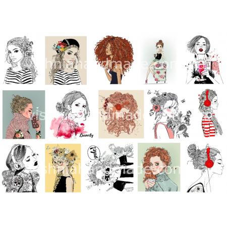 Термонаклейки для кукол «Портреты», для белых тканей