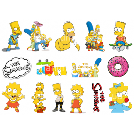 Термонаклейки для кукол «Симпсоны», для белых тканей Ар. 480062