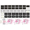 Термотрансферные наклейки для белых тканей под заказ, выбор размера