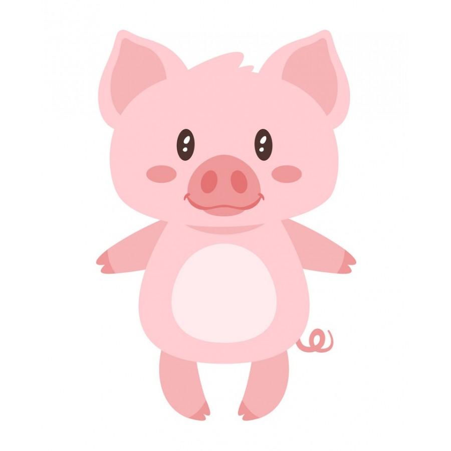 """Термотрансферная наклейка """"Свинка"""", 3 см"""