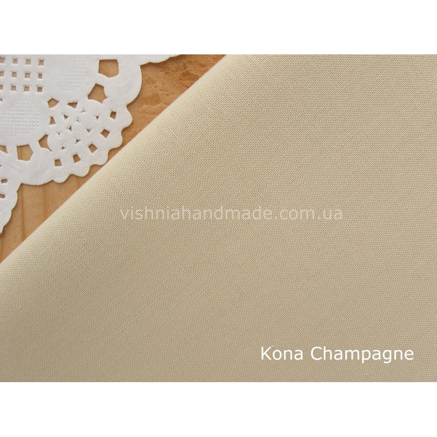 Американский телесный хлопок  Kona Cotton Champagne 22.5*55 см, плотность 145 г/м2