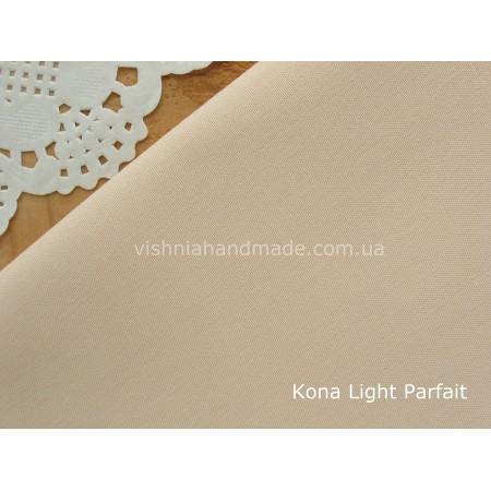 Американский телесный хлопок  Kona Cotton Light Parfait 22.5*55 см (светло персиковый с нежной розовинкой, плотность 145 г/м2
