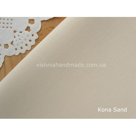 Американский телесный хлопок  Kona Cotton Sand 22.5*55 см (песок - телесный, нейтральный бежевый), плотность 145 г/м2