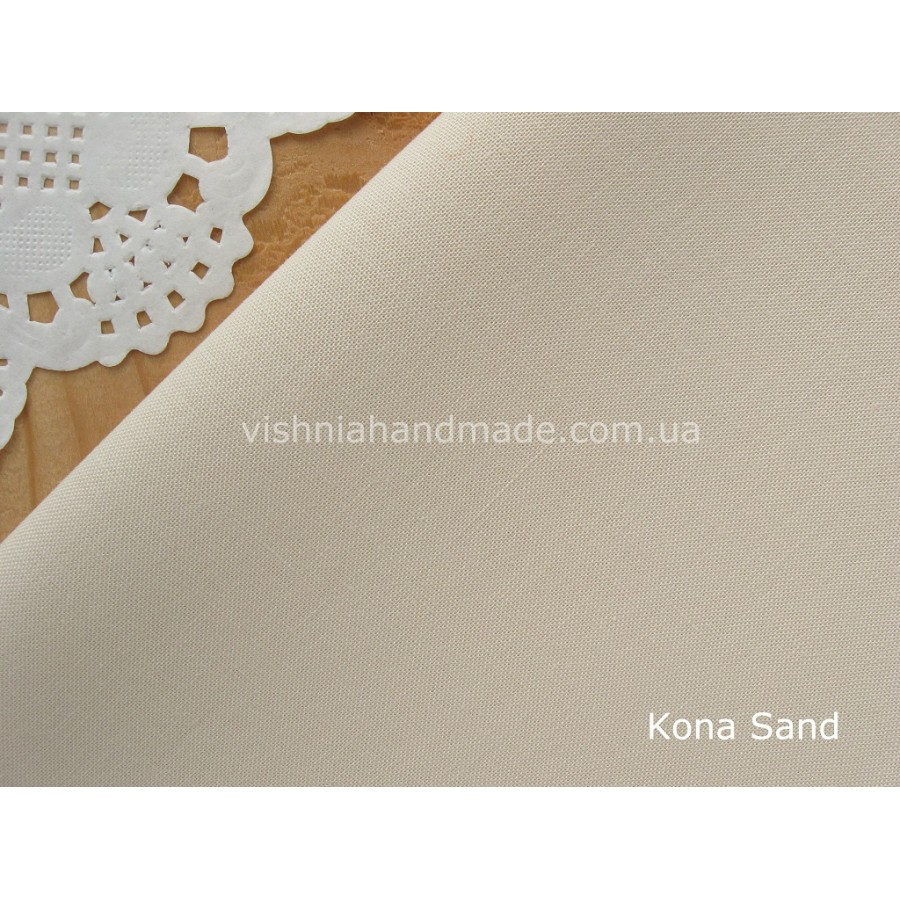 Американский телесный хлопок  Kona Cotton Sand 22.5*55 см, плотность 145 г/м2