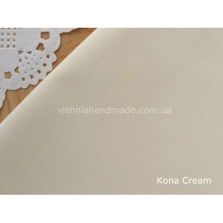 Американский телесный хлопок  Kona Cotton Cream 22.5*55 см, плотность 145 г/м2