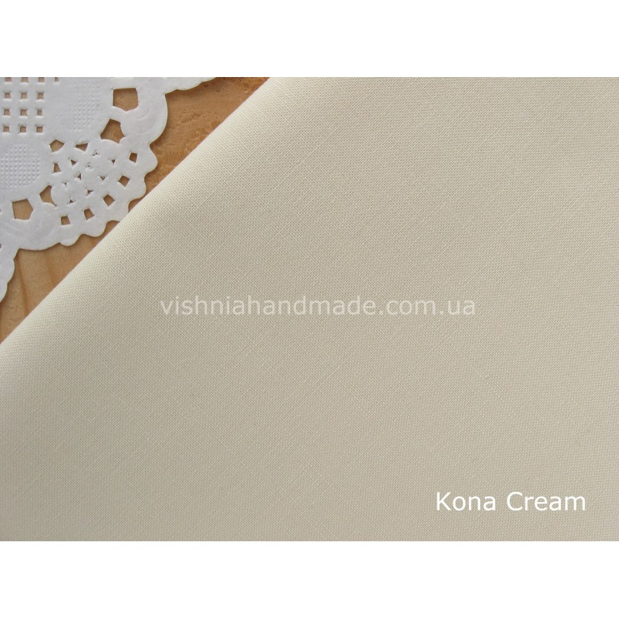 Американский телесный хлопок  Kona Cotton Cream 22.5*55 см, плотность 145 г/м2