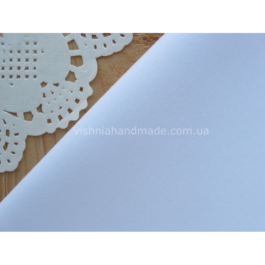 Польская бязь белого цвета 40*50 см, плотность 135 г/м2