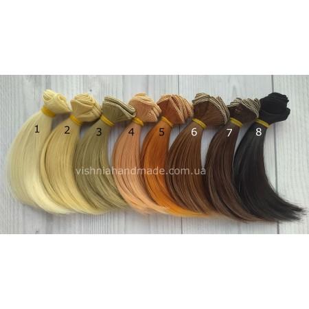 Новые! Волосы трессы для кукол каре, 10 см, выбор цвета