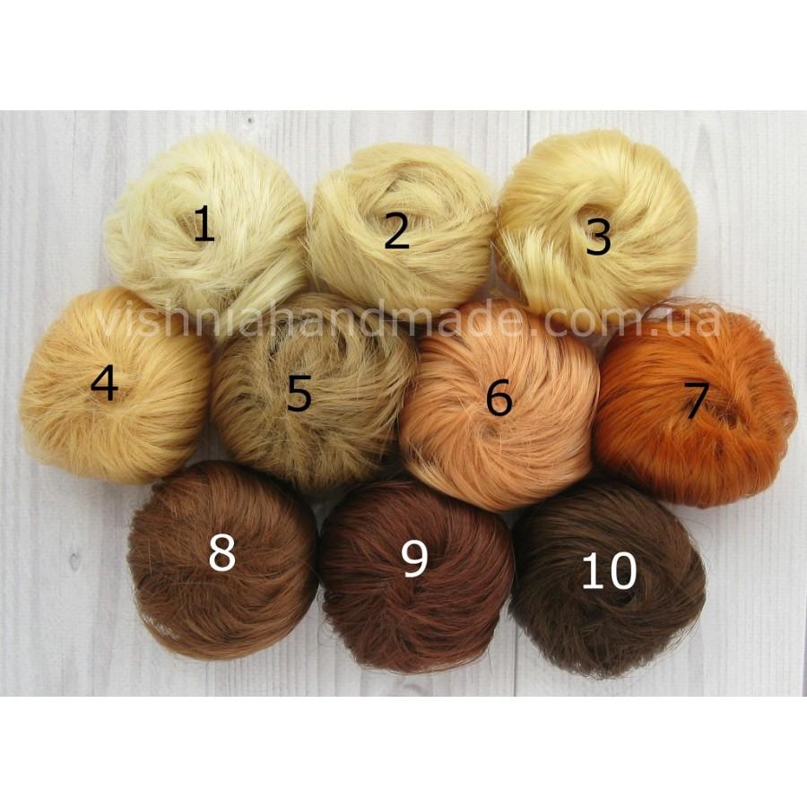 Новые! Волосы трессы для кукол прямые, 5 см, выбор цвета