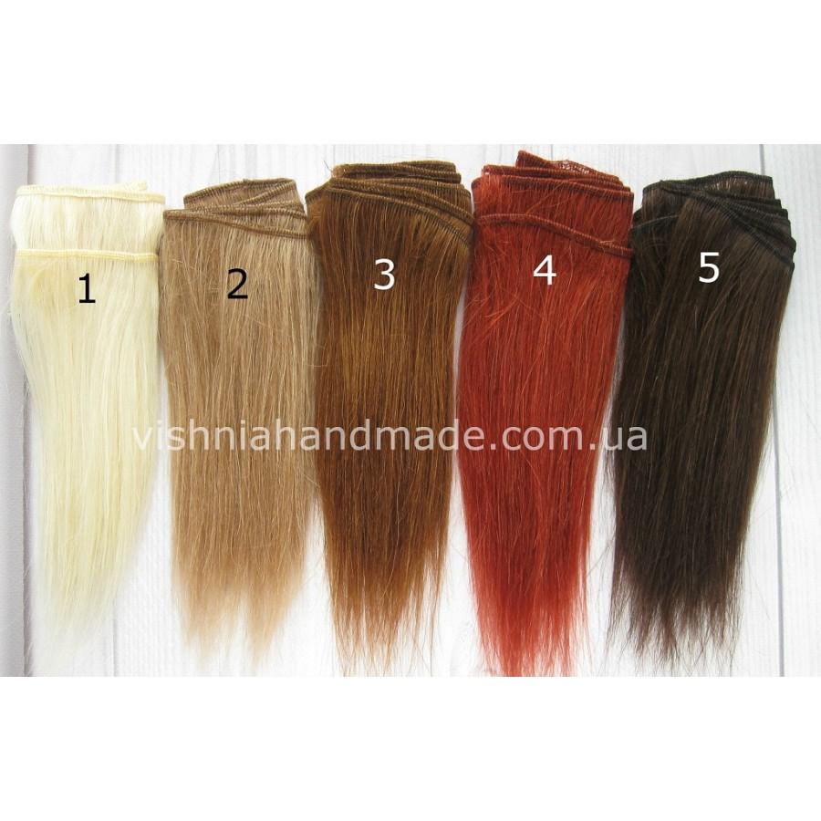 Натуральные волосы трессы козочка для кукол прямые, 15 см, выбор цвета