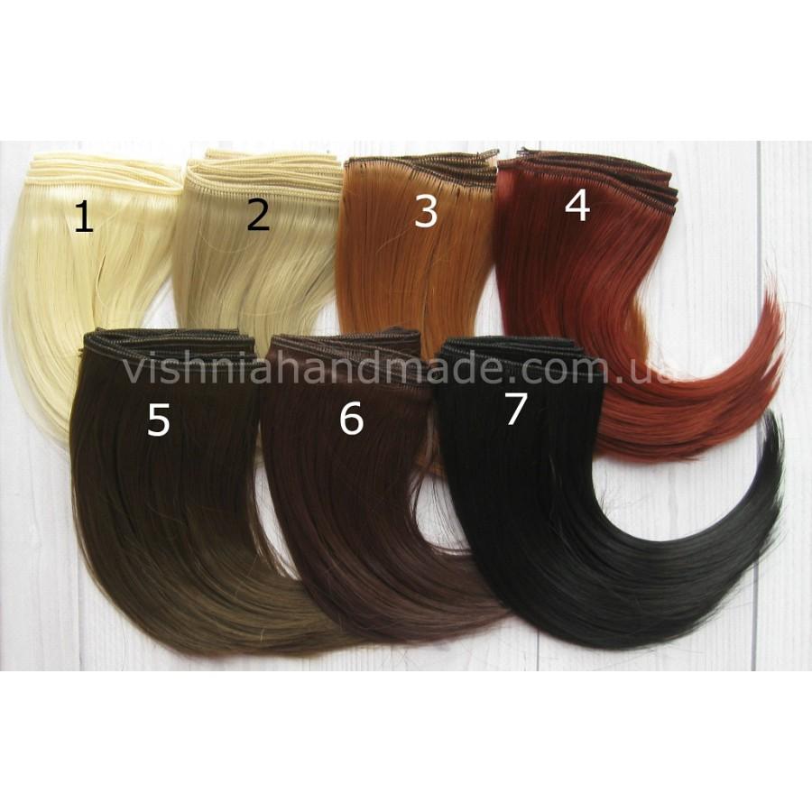 Волосы трессы для кукол каре, 15 см, выбор цвета