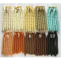 Волосы трессы для кукол мелкие локоны, 15 см, выбор цвета
