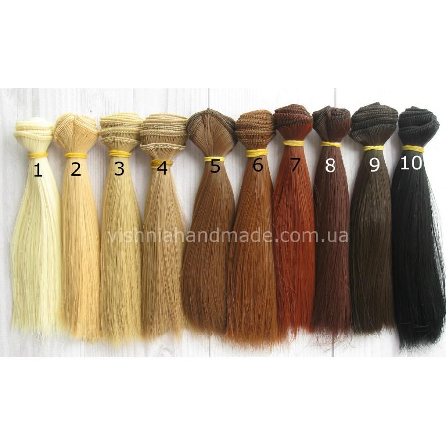 Волосы трессы для кукол прямые, 15 см, выбор цвета