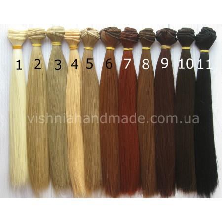Волосы трессы для кукол прямые, 25 см, выбор цвета